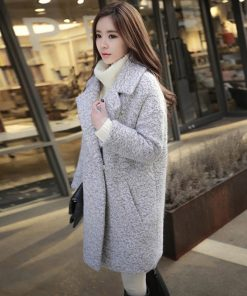 Brand Winter Coat Women Warm Cotton-padded Wool Coat Long Women's Cashmere Woolen Coat Fashion Jacket Outwear Z5727 1