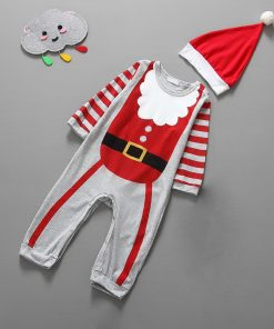 Christmas Baby girls clothes newborn pajamas baby boy winter snowsuit warm christmas romper jumpsuit santa claus baby costume  1