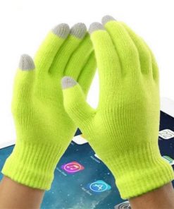 VISNXGI Winter Men Gloves Female Fashion Wrist Casual Gloves Soft Mittens For Touched Driving Warm Winter Gloves & Mitten Unisex 1