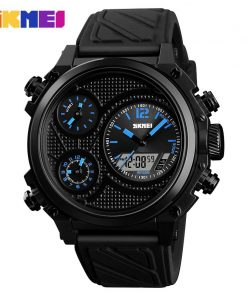 SKMEI Sports Men Watches 5 Time Alarm Chrono EL Light Fashion Wristwatches 50M Waterproof Week Date Watch relogio masculino 1359 1