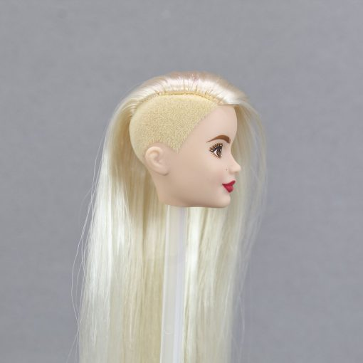 For Barbie Limited One Pcs Head Collection American Girl  Doll Accessories Fashion Hair Golden Galactic Toys For Children 1