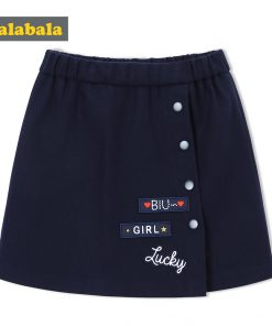 balabala Children Girls Skirts Autumn 2018 New A-line Skirt For Girls Fashion Fun Sweet Childs Clothes of Girl Short Skirts