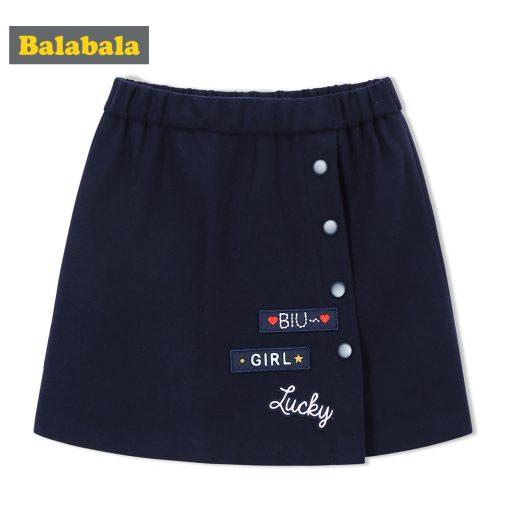 balabala Children Girls Skirts Autumn 2018 New A-line Skirt For Girls Fashion Fun Sweet Childs Clothes of Girl Short Skirts