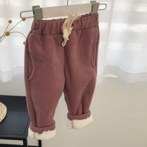 Toddler Boys trousers Thick winter velvet baby pants girl leggings children elastic waist girls warm leggings thickening pants 4