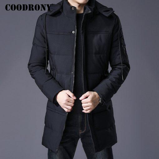 COODRONY Winter Jacket Men Thick Warm Hooded Parka Men Clothes 2018 New Arrival Fashion Casual Long Coat Men Zipper Overcoat 833 2