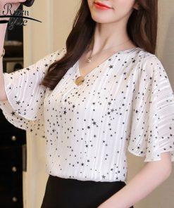 Fashion 2018 printing chiffon women's clothing flare sleeve feminine tops loose plus size 4XL women blouse shirts blusas D644 30 1