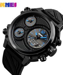 SKMEI Sports Men Watches 5 Time Alarm Chrono EL Light Fashion Wristwatches 50M Waterproof Week Date Watch relogio masculino 1359