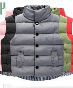 Children winter waistcoat toddler boys vest Coats vest for girls infant baby fur vest sleeveless kids fall windbreaker jacket  1