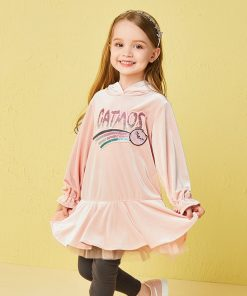 Balabala 2pairs/lot set paillette Ruffles patchwork velvet hoodies and leggings kid suit set autumn clothing for toddler girl   1