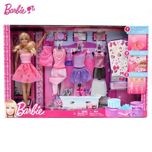 Barbie Original Doll Toys Fashion Comb Princess Designer American Girll Creative Desi Barbie Clothes Dress For Baby Girls Y7503 1