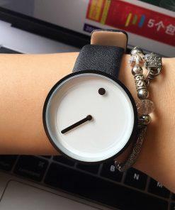 2017 cool black & white Minimalist style wristwatch bgg creative design Dot and Line simple stylish quartz fashion watch gift 1