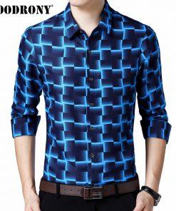 COODRONY Long Sleeve Shirt Men Business Casual Shirts Men Clothes 2018 Autumn New Arrivals Plaid Camisa Masculina Plus Size 8738
