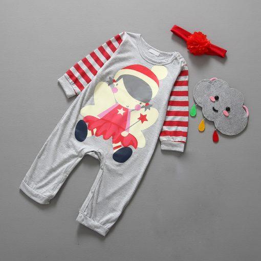Christmas Baby girls clothes newborn pajamas baby boy winter snowsuit warm christmas romper jumpsuit santa claus baby costume  2