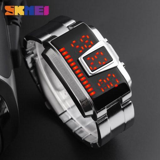 SKMEI Fashion Creative LED Sports Watches Men Top Luxury Brand 5ATM Waterproof Watch Digital Wristwatches Relogio Masculino 4