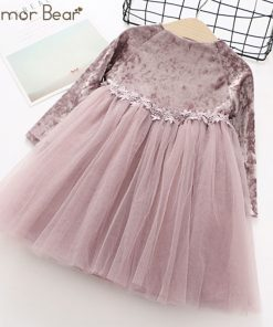 Humor Bear long sleeve children dress NewAutumn Fashion Style Girls Dress Princess Dress Kids Dress Children Clothes 1