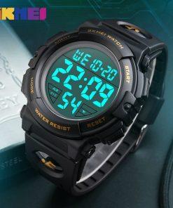 SKMEI New Sports Watches Men Outdoor Fashion Digital Watch Multifunction 50M Waterproof Wristwatches Man Relogio Masculino 1258 1