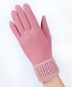 VISNXGI Fashion Women Touched Screen Gloves Autumn Winter Cute Bow Warm Warmer Mitts Full Finger Mittens Cashmere Female Gloves 1
