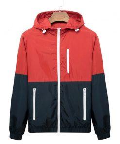 Windbreaker Men Casual Spring Autumn Lightweight Jacket 2018 New Arrival Hooded Contrast Color Zipper up Jackets Outwear Cheap