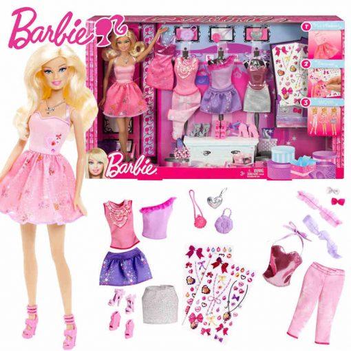 Barbie Original Doll Toys Fashion Comb Princess Designer American Girll Creative Desi Barbie Clothes Dress For Baby Girls Y7503 4