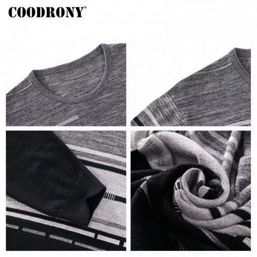 COODRONY Sweater Men Brand Clothing Mens Sweaters For 2018 Autumn Winter Casual O-Neck Pull Homme Cashmere Wool Pullover Men 229 5