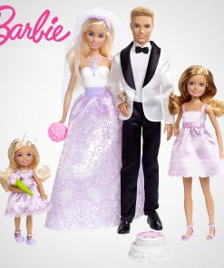 Barbie Original Brand  Wedding Suit 4Pcs Collection Doll Dreams Toys Beautiful Girl Barbie Boneca Mode DJR88 For Wedding Gift