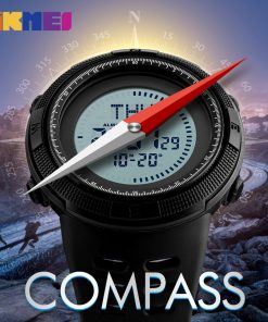 SKMEI Compass Men Sports Watches World Time Summer Time Watch Countdown Chrono Waterproof Digital Wristwatches Relogio Masculino 1