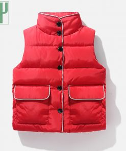 2 6 8years Sleeveless kids vest bodywarmer baby waistcoat girl vest autumn Winter boys vest for children cotton down jacket