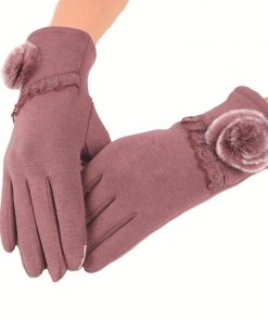 VISNXGI 2018 New Fashion Women Autumn Winter Female Bow Gloves Fashion Touched Wrist Gloves For Women Touchscreen Glove Hot Sale 1