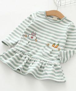 Humor Bear Brand 2017 Spring Autumn Baby Girls Dress Princess Dress Stripe Long Sleeve Cartoon Dresses For Kids Dress 3-7Y 1