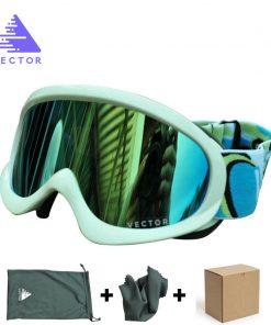 VECTOR Children Ski Goggles Set  Double Lens UV400 Anti-fog Snow Skiing Glasses For Girls Boys Winter Kids Eyewear