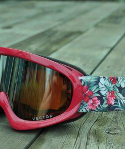 VECTOR Brand Children Girls Boys Ski Goggles Set Double Lens UV400 Anti-fog Snow Skiing Glasses Kids Winter Ski Eyewear 1