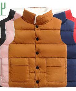 Children winter waistcoat toddler boys vest Coats vest for girls infant baby fur vest sleeveless kids fall windbreaker jacket