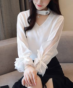 New Autumn Long Sleeve Shirt Women Fashion Woman Blouses 2018 Chiffon Blouse Shirt Blasas Feminina Elegante Blouse Women 1147 40 1