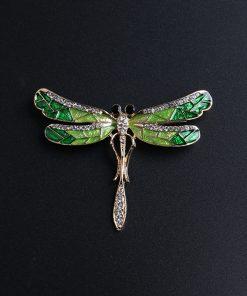 DIEZI Vintage Fashion Drip dragonfly Rhinestone Crystal Bouquet Brooches For Women Wedding Brooch Pins 2018 New Luxury Brooch 1