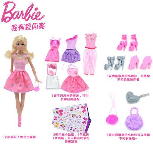 Barbie Original Doll Toys Fashion Comb Princess Designer American Girll Creative Desi Barbie Clothes Dress For Baby Girls Y7503 3