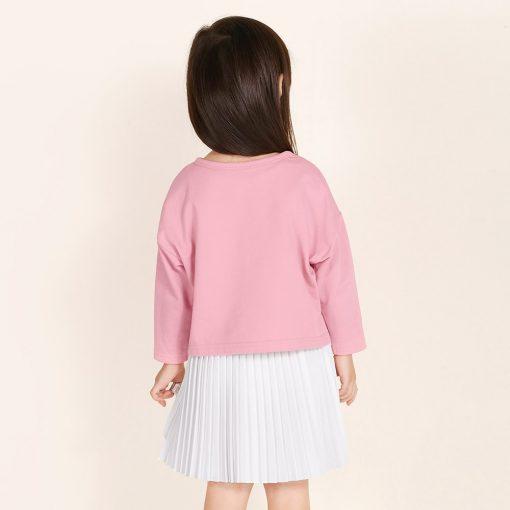 balabala Girls Dress Children 2018 Autumn Doll Collar Princess Dresses For Girls Fashion Cotton Dress & long sleeve tshirt 2