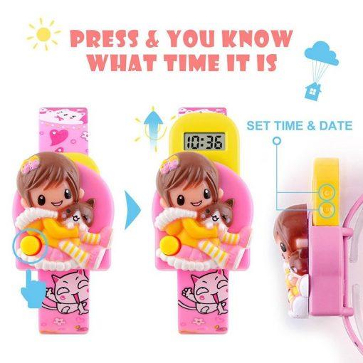 SKMEI New Fashion Children Cartoon Watches Creative Students Watch Girls Kids Digital Lovely Wristwatches Relojes 1240 5