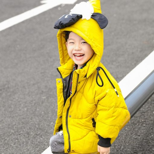 HH Winter jacket for boy snowsuit Cartoon sheep hooded coat kids down jacketts parka girl children's winter jackets Outerwear 2