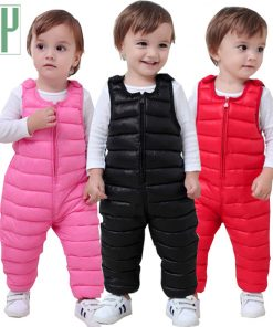 Children pants Down Cotton Warm Comfortable trousers girls autumn pants Boys winter pants Outwear 1 2 3 5 years baby overalls