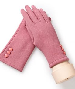 VISNXGI 2018 Fashion Winter Female Touched Glove Women Warm Wrist Mittens Touched Gloves With Three Buttons Black Good Quality 1
