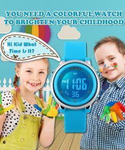 SKMEI New Fashion Sports Children Watches Waterproof Alarm Watch Kids Back Light Calendar Digital Wristwatches Relogio Infantil 1