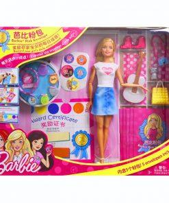 Original Barbie Doll Barbie Pink Bag Set DIY Surprise American Girl Doll Toys For Girls For Children FGC36 1