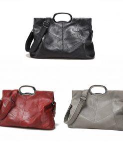 Luxury Handbags Genuine Leather Women Bags Designer Women's Leather Handbags Big Casual Tote Bag Ladies Shoulder Bag 1