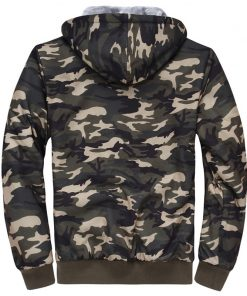 NaranjaSabor 2018 Autumn Winter Men's Jacket Hooded Coat Camouflage Hoodies Army Green Mens Clothing Fleece Male Sweatshirts 4XL 1