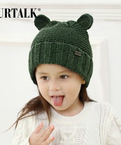FURTALK children's winter wool knit skullies beanie lovely baby ear hats for girls and boys  1