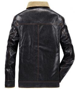 FGKKS 2018 Men PU Leather Jacket Winter Thick Warm Pilot Jacket Male Fur Collar Jacket tactical Mens Jacket Coat 1