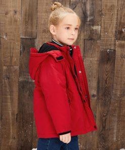 balabala Girls Children Cotton Jacket BLOUSONS Autumn Winter Plus Velvet Thick Warm Fashion Detachable Smooth Outwear For Girl 1