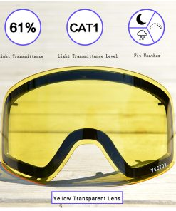 Anti-fog UV400 Skiing Goggles Lens Glasses Weak Light tint Weather Cloudy Brightening Lens For HB 108  (Only Lens) ACC30019 1