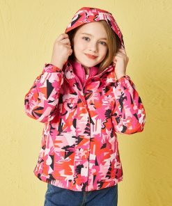 Children Girls Casual Jacket 2018 Autumn New Long-sleeved Sports Windproof Casual Girls Clothes Fashion Detachable Lively Jacket 1
