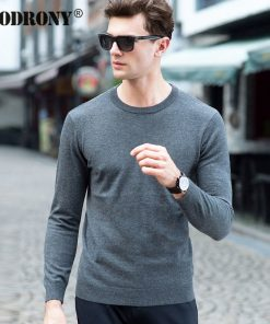 COODRONY Top Quality Knitted Cashmere Sweaters Christmas Merino Wool Sweater Men Classic Casual Pure Color O-Neck Pullover Men 1